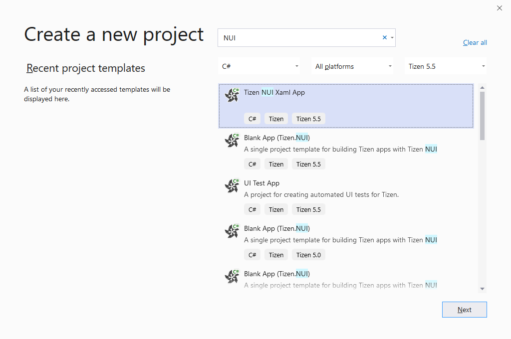 XAML Support for Tizen.NUI