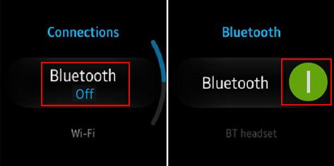 Switch on Bluetooth