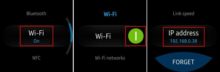 Switch on Wi-Fi