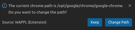 Change Chrome Path